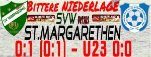 SVW – St. Margarethen 0:1 (0:1)