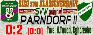 Parndorf II – SVW  0:2 (0:0)