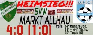 SV Wimpassing – Markt Allhau 4:0 (1:0)