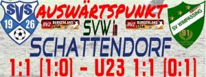 Schattendorf – SVW 1:1 (1:0)
