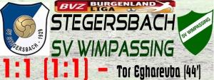 Stegersbach-SVW 1:1 (1:1)