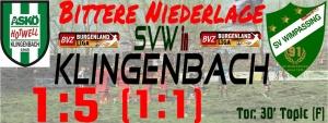 Klingenbach – SVW  5:1 (1:1)