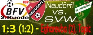 BFV-Cup Neudörfl – SVW 1:3 (1:2)