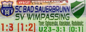 SC Bad Sauerbrunn – SVW 1:3 (1:2)
