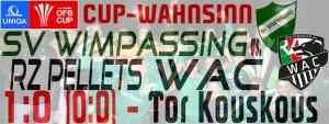 UNIQA-ÖFB-Cup SVW-WAC 1:0 (0:0)