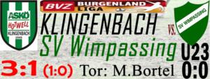 Klingenbach-SVW  3:1 (1:0)
