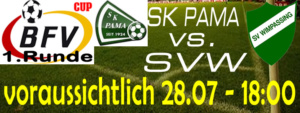 1. Runde BFV-Cup 2018/2019 – SK Pama (A)