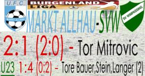 Markt Allhau-SVW  2:1 (2:0)
