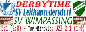 SV Leithaprodersdorf-SVW 5:1 (2:0)