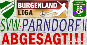 SVW-Parndorf II – ABGESAGT
