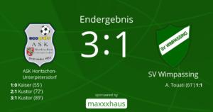 Horitschon-SVW  3:1 (0:0)