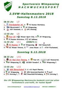 2. SVW-Nachwuchssport-Hallenmasters am 8.+9.12.2018