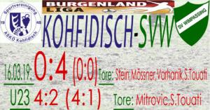 Kohfidisch-SVW  0:4 (0:0)