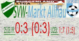 SVW-Markt Allhau 0:3 (0:3)
