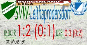 SVW-Leithaprodersdorf 1:2 (0:1)