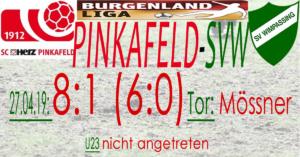 Pinkafeld-SVW  8:1 (6:0)