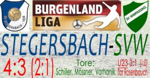 Stegersbach-SVW  4:3 (2:1)