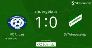 Andau-SVW  1:0 (0:0)