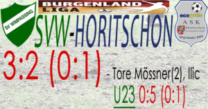 SVW-Horitschon 3:2 (0:1)
