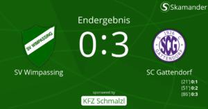 SVW-Gattendorf 0:3 (0:1)